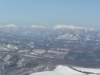 山頂から東大雪