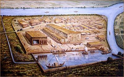 Agrandir.Lothal en Gujarat Inde reconstitution