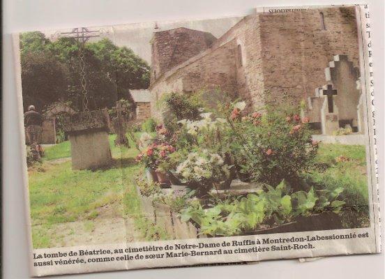 Tombe de Béatrice à Montredon-Labessonnié