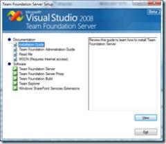 VS 2008 TFS Beta 2 Setup