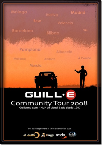 Guille Community Tour 2008 - Vista preliminar